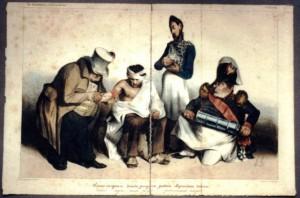 Lithographie vor der Restaurierung