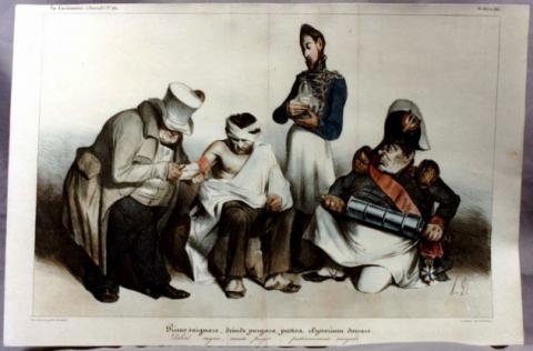 Lithographie nach der Restaurierung