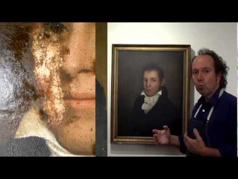 200 Year Old Oil Painting Portrait
